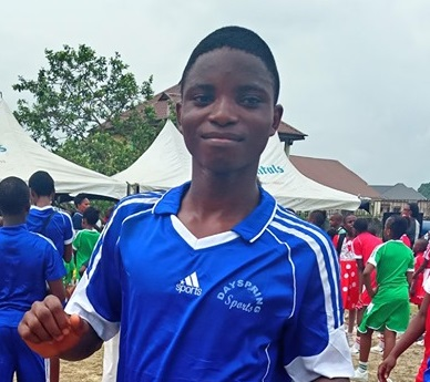 Ernest during Inter-House Sports Competition